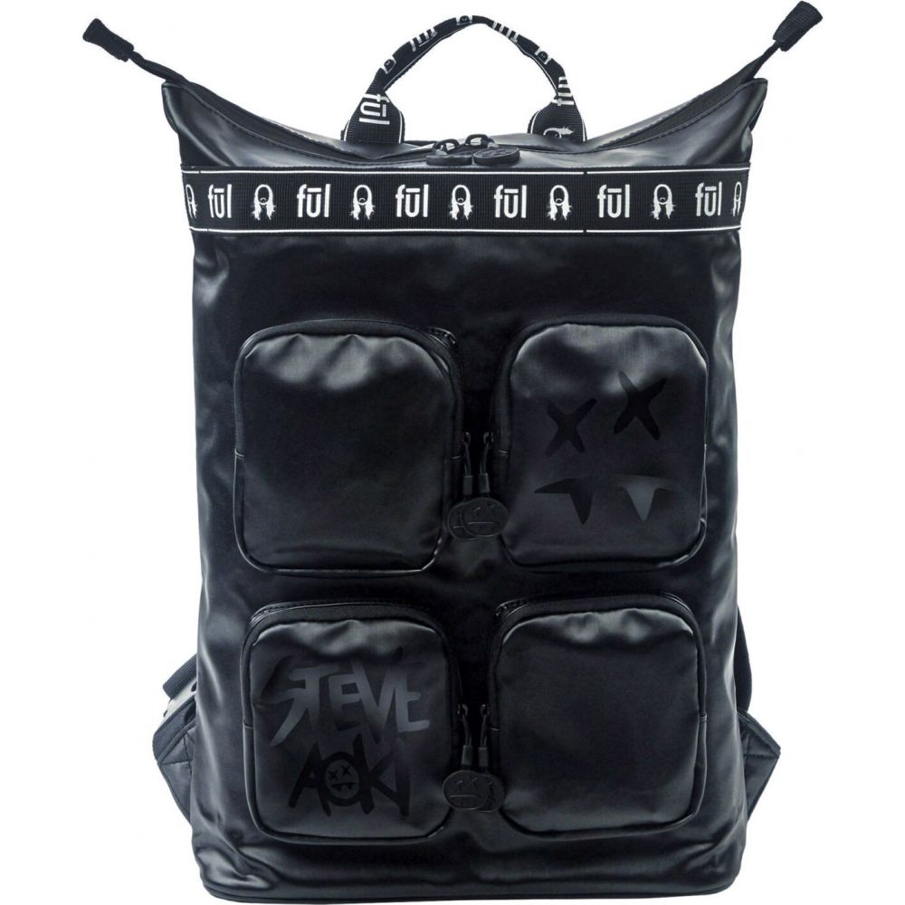 フル Ful レディース バックパック・リュック バッグ【Steve Aoki Tote Backpack】Black