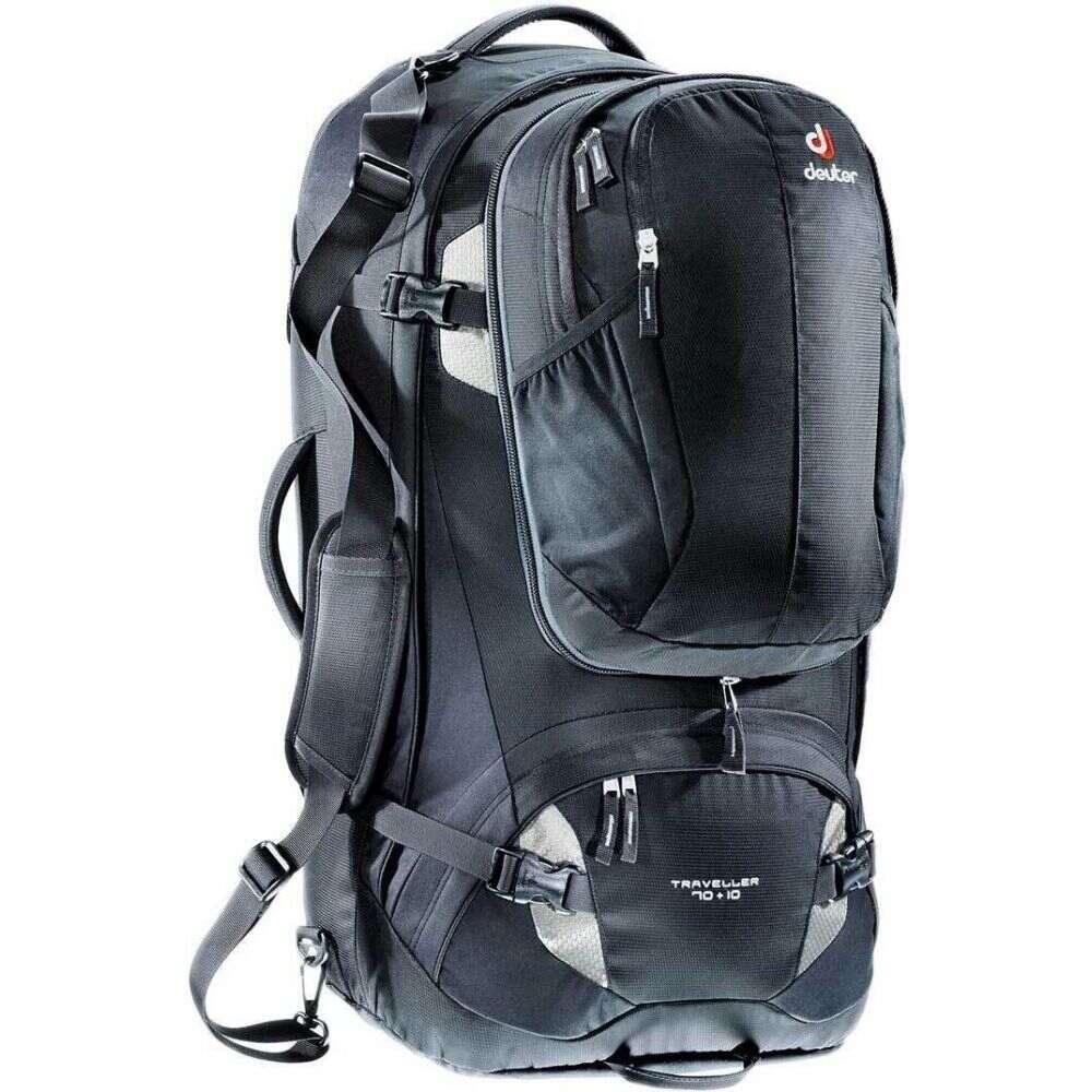 ドイター Deuter レディース バックパック・リュック バッグ【Traveller 70+10 Backpack - Internal Frame】Black/Silver