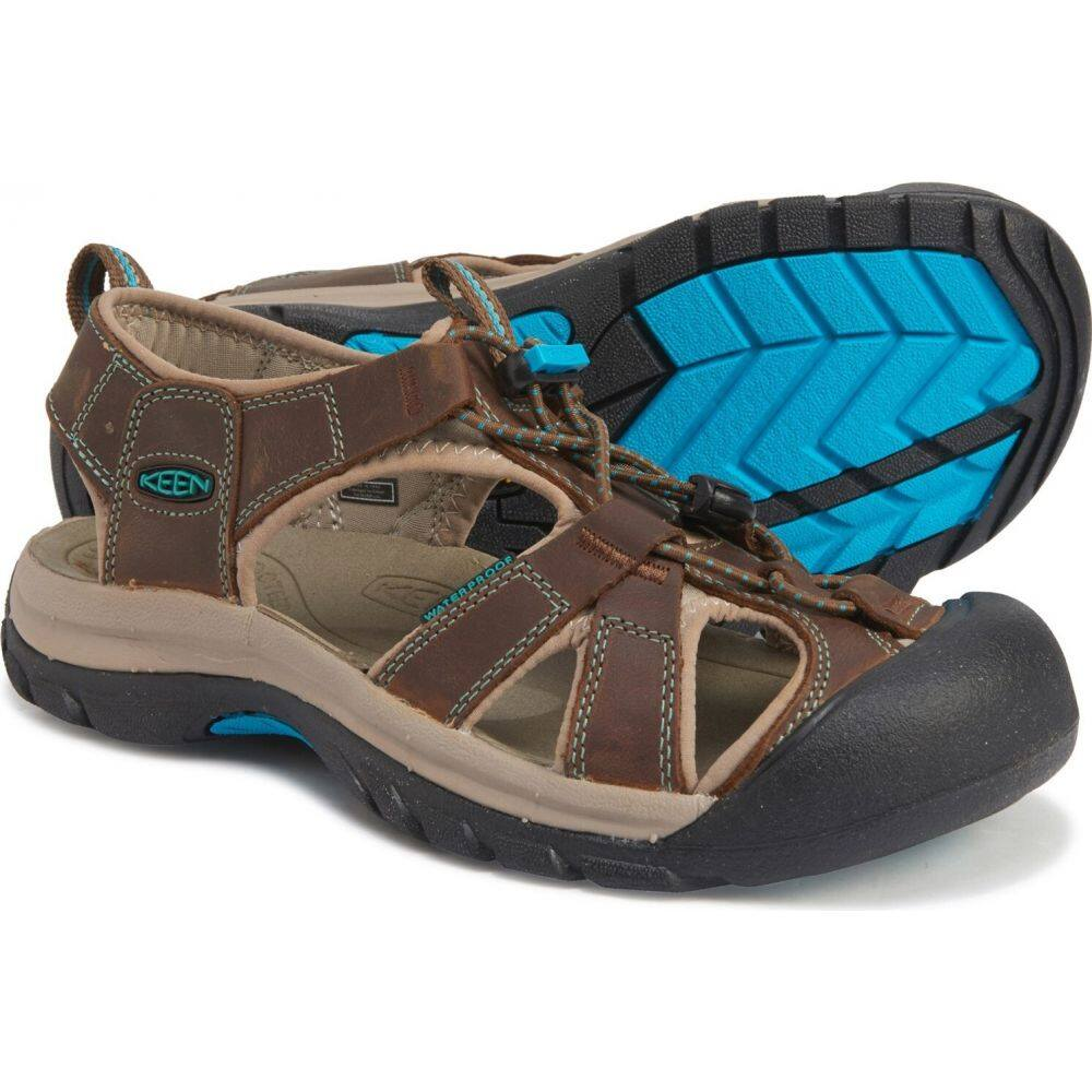 キーン Keen レディース サンダル・ミュール シューズ・靴【Venice Sandals - Waterproof, Leather】Dark Earth/Caribbean Sea