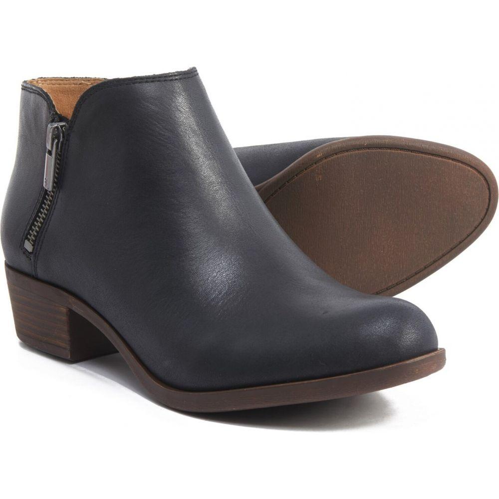 ラッキーブランド Lucky Brand レディース ブーツ ショートブーツ シューズ・靴【Burklee Side-Zip Ankle Boots - Leather】Black
