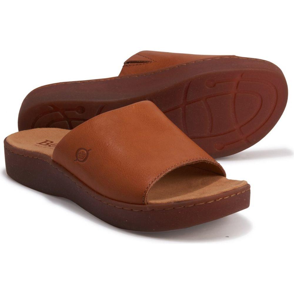 ボーン Born レディース サンダル・ミュール シューズ・靴【Ottawa Slide Sandals - Leather】Brown