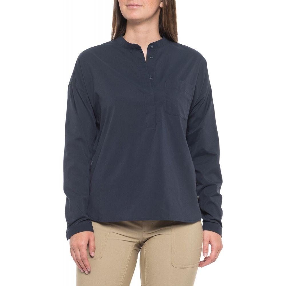 マウンテンハードウェア Mountain Hardwear レディース トップス 【Canyon Pro Popover Shirt - UPF 50, Long Sleeve】Dark Zinc