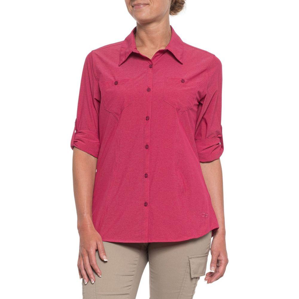 アウトドアリサーチ Outdoor Research レディース トップス 【Wayward Shirt - UPF 50+, Long Sleeve】Sangria