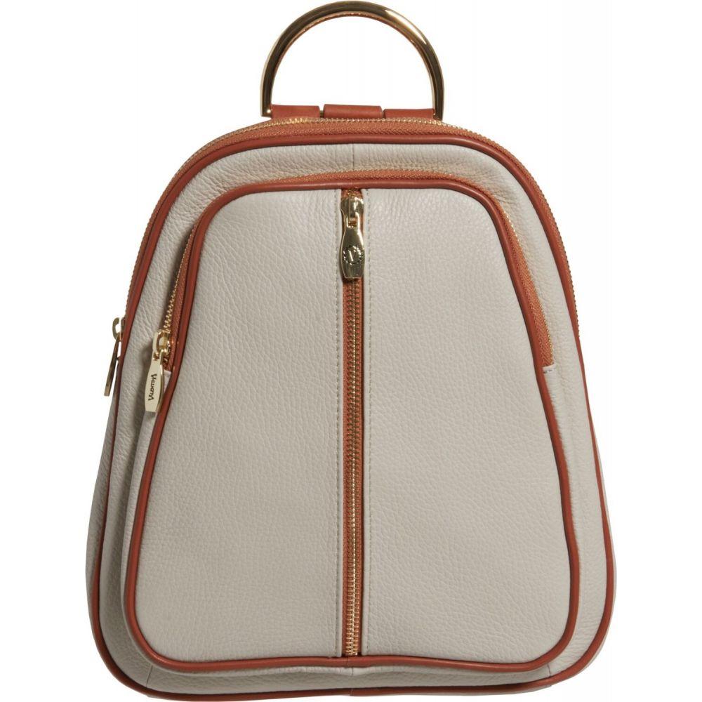 バレンティナ Valentina レディース バックパック・リュック バッグ【Double Entry Dome Backpack - Leather, 11x10x2.5】Beige