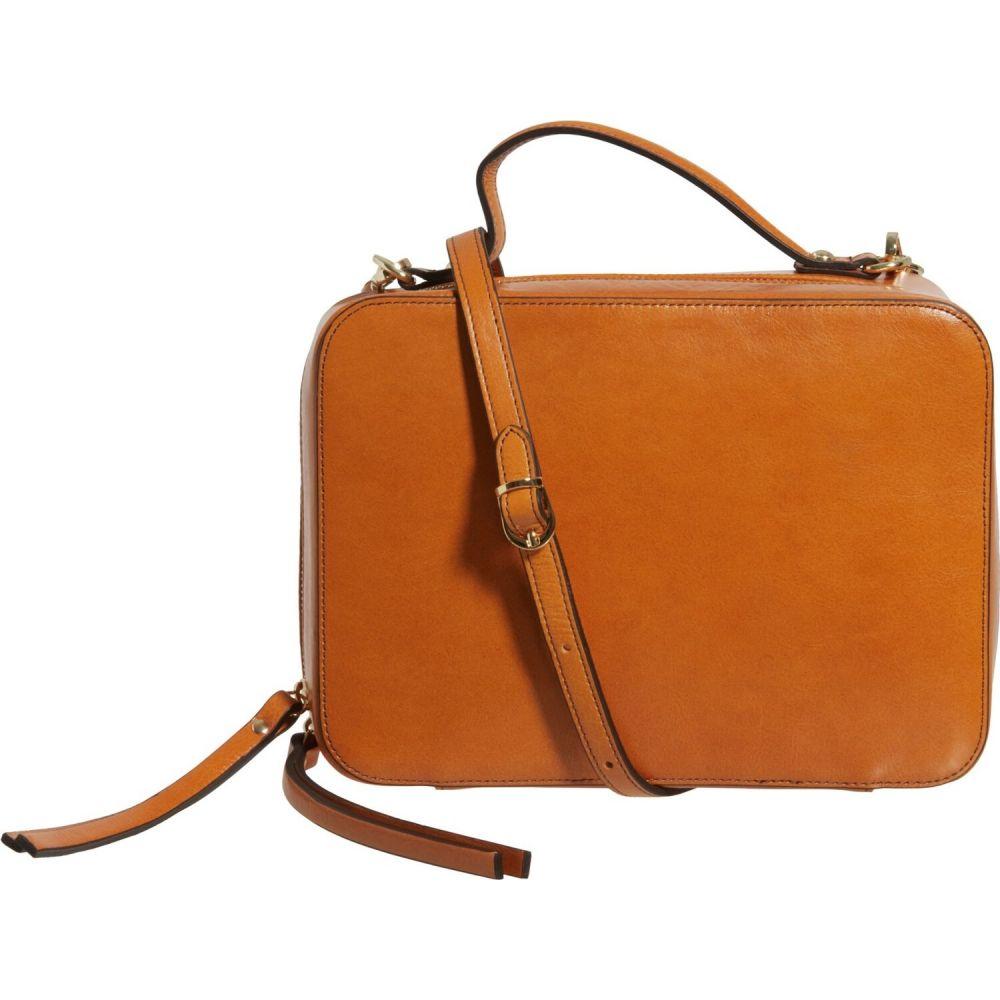 ディヴィナ Divina レディース バックパック・リュック サッチェルバッグ バッグ【Made in Italy Square Satchel Backpack - Leather, 7.25x10x3.5】Mustard
