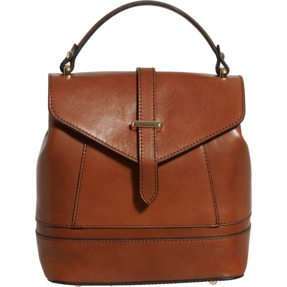 ディヴィナ Divina レディース バックパック・リュック サッチェルバッグ バッグ【Made in Italy Convertible Flap Satchel Backpack - Leather, 8x8x5】Brandy