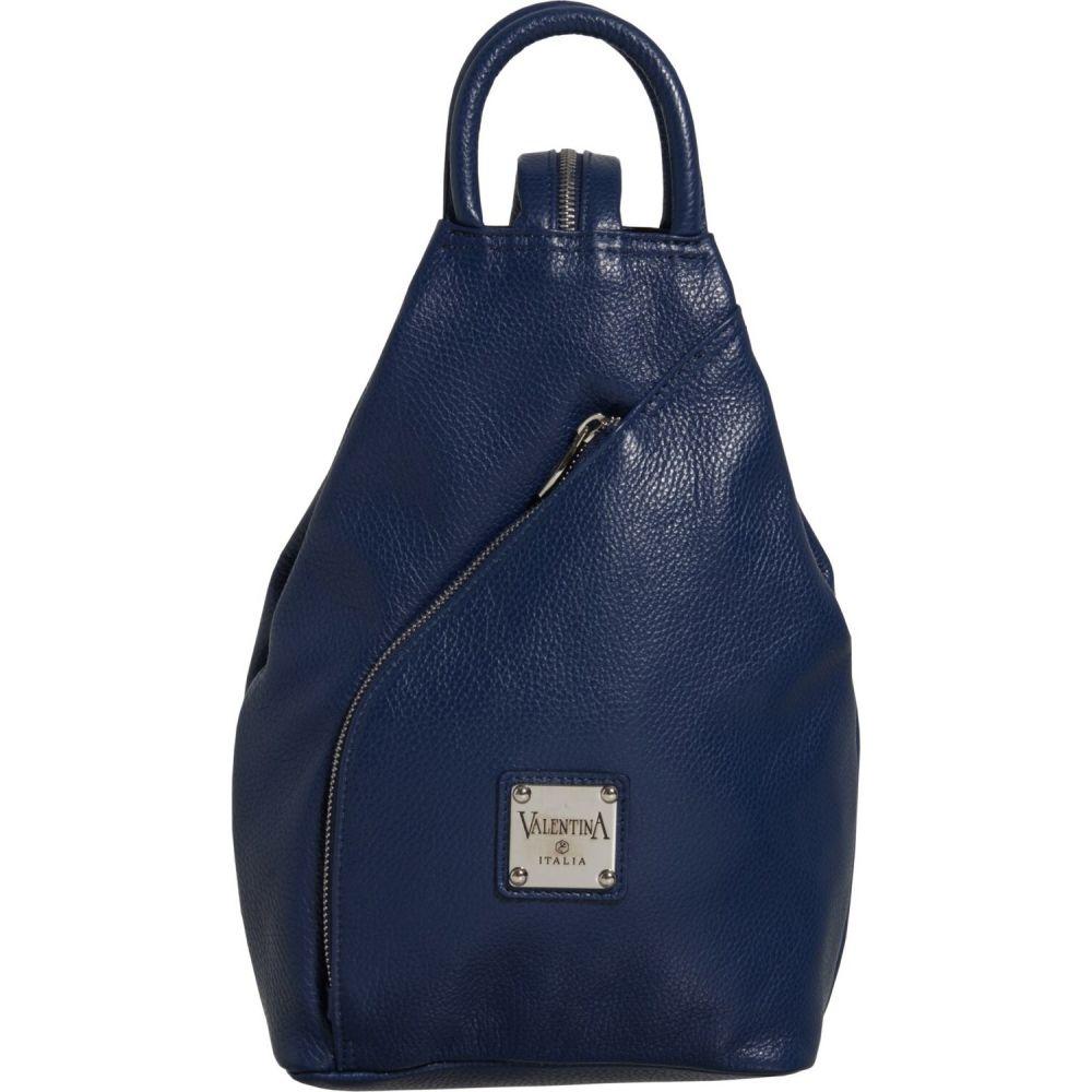 バレンティナ Valentina レディース バックパック・リュック バッグ【Made in Italy Convertible Sling Backpack - Leather】Blue