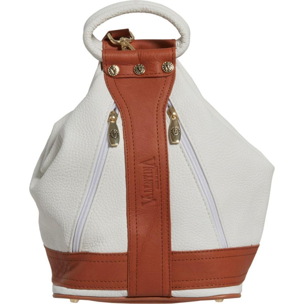 バレンティナ Valentina レディース バックパック・リュック バッグ【Made in Italy Medium Convertible Sling Backpack - Leather】White