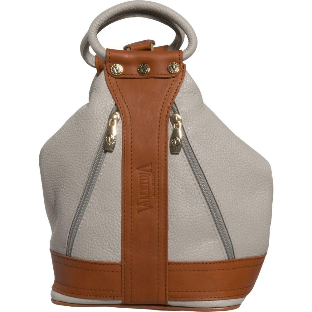 バレンティナ Valentina レディース バックパック・リュック バッグ【Made in Italy Medium Convertible Sling Backpack - Leather】Pearl