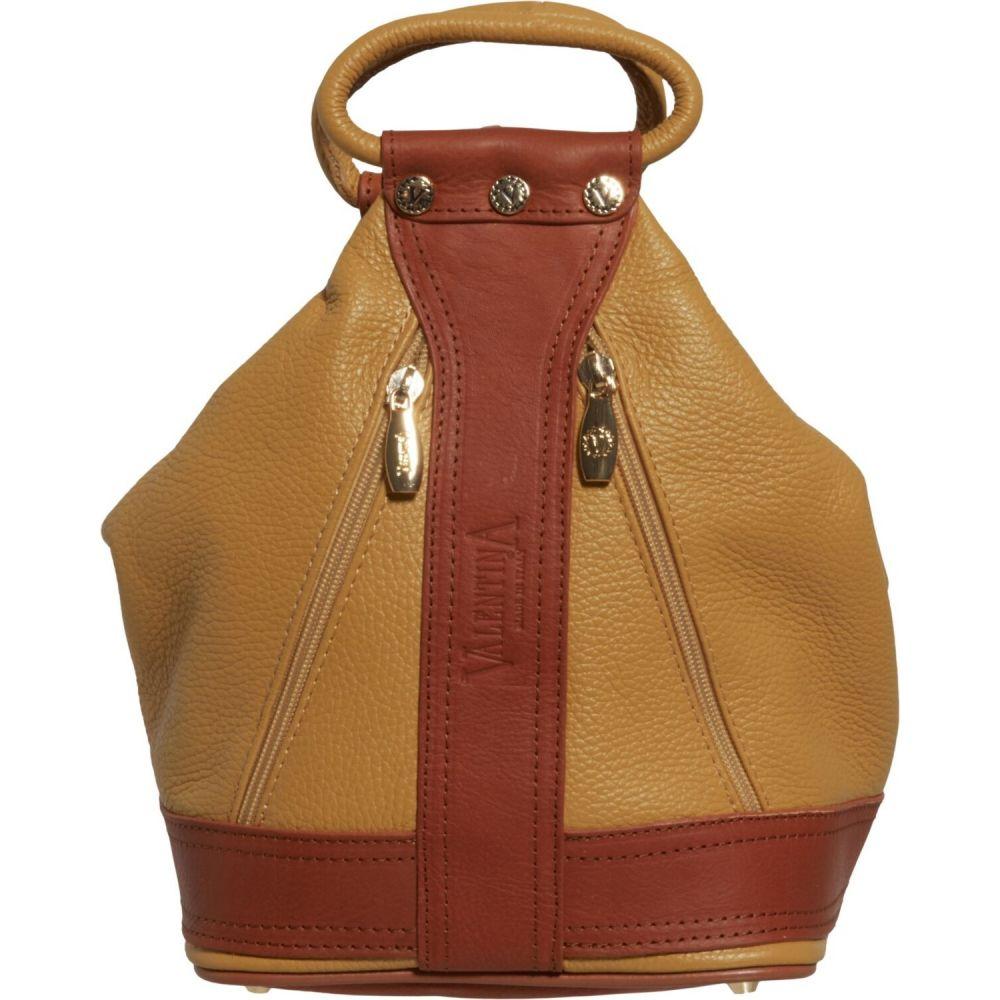 バレンティナ Valentina レディース バックパック・リュック バッグ【Made in Italy Medium Convertible Sling Backpack - Leather】Pinapple