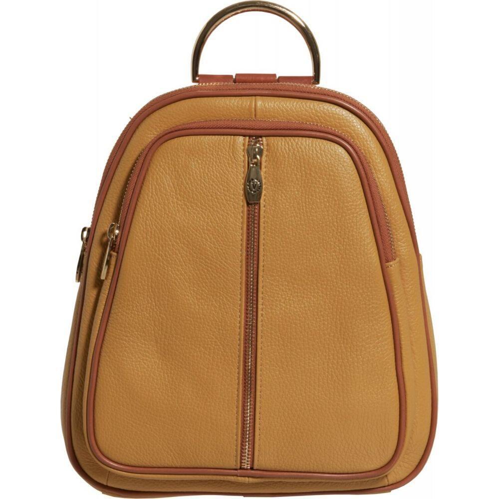 バレンティナ Valentina レディース バックパック・リュック バッグ【Made in Italy Double Entry Dome Backpack - Leather】Pinapple