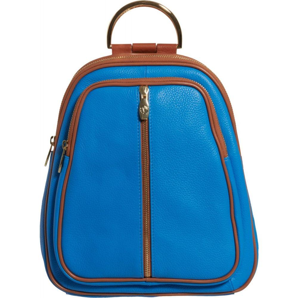 バレンティナ Valentina レディース バックパック・リュック バッグ【Made in Italy Double Entry Dome Backpack - Leather】Celeste