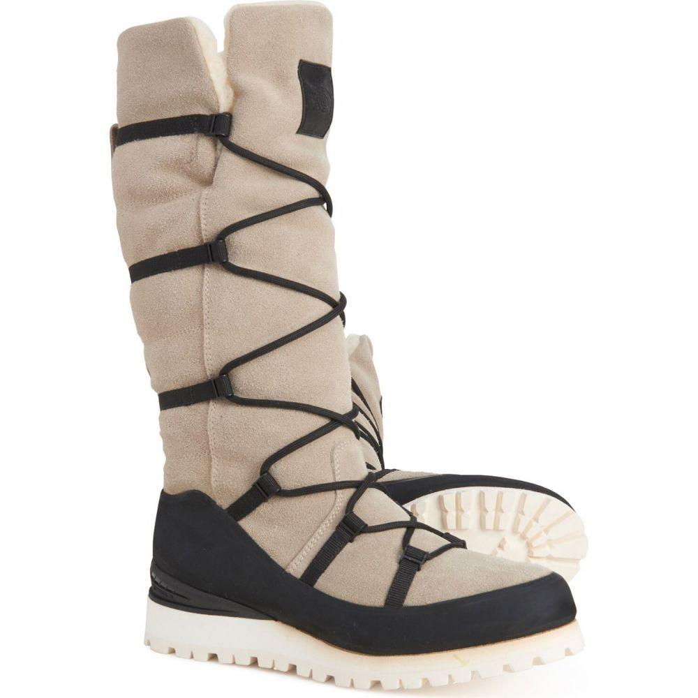 レディース The Shake Leather, Black Grey/Tnf ノースフェイス Face シューズ・靴【Cryos Shearling】Milk Tall ブーツ North Boots シアリング ザ -