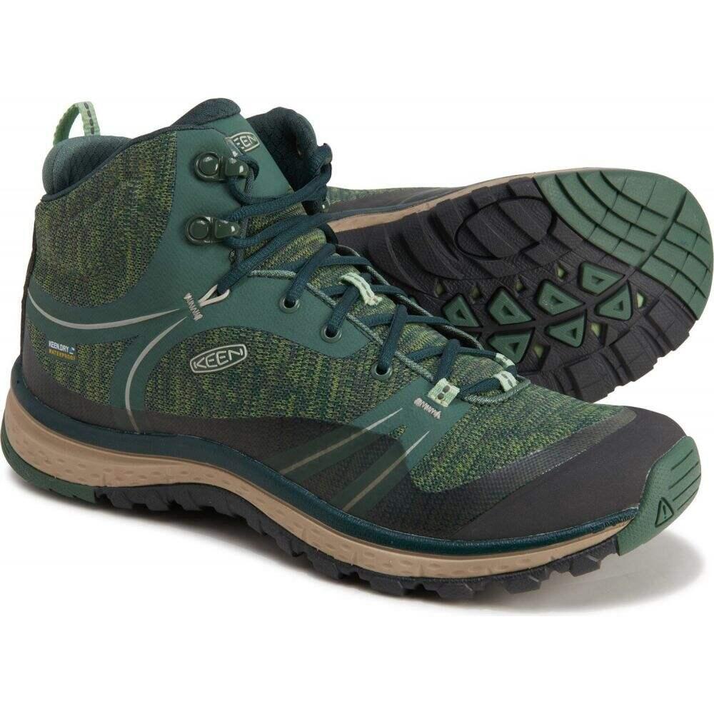 <title>キーン レディース ハイキング 登山 中古 シューズ 靴 Duck Green Quiet サイズ交換無料 Keen ブーツ terradora mid hiking boots - waterproof</title>