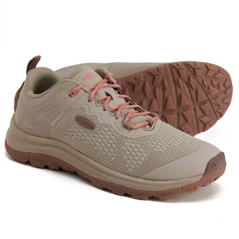 <title>品質保証 キーン レディース ハイキング 登山 シューズ 靴 Plaza Taupe Coral サイズ交換無料 Keen terradora ii vent hiking shoes</title>