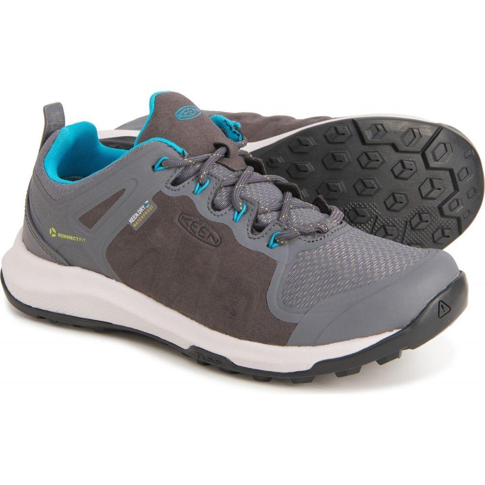 <title>キーン レディース ハイキング 登山 シューズ 靴 Steel Grey Bright Turquoise サイズ交換無料 Keen explore hiking オンラインショッピング shoes - waterproof</title>