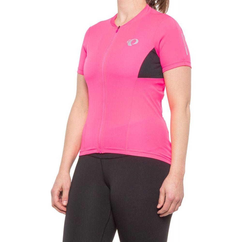 パールイズミ 今だけスーパーセール限定 レディース 自転車 トップス Screaming Pink Black サイズ交換無料 Pearl Izumi Zip Jersey Cycling Pursuit SELECT Full Sleeve Short 半額 -
