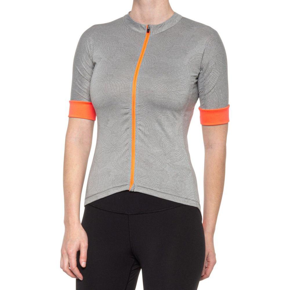 エムピージー レディース 売却 自転車 トップス まとめ買い特価 Heather Concrete サイズ交換無料 Short - Cycling Jersey MPG Sleeve Amp