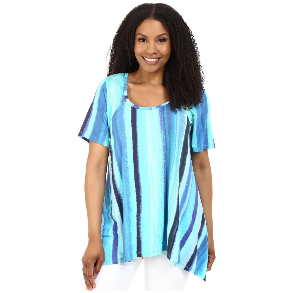 カレンケーン レディース トップス Tシャツ【Plus Size Print Handkerchief Top】Print