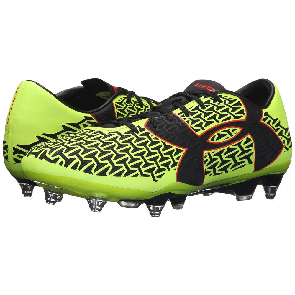 アンダーアーマー メンズ サッカー シューズ・靴【UA Clutchfit' Force 2.0 Hybrid】High-Vis Yellow/Rocket Red/Black
