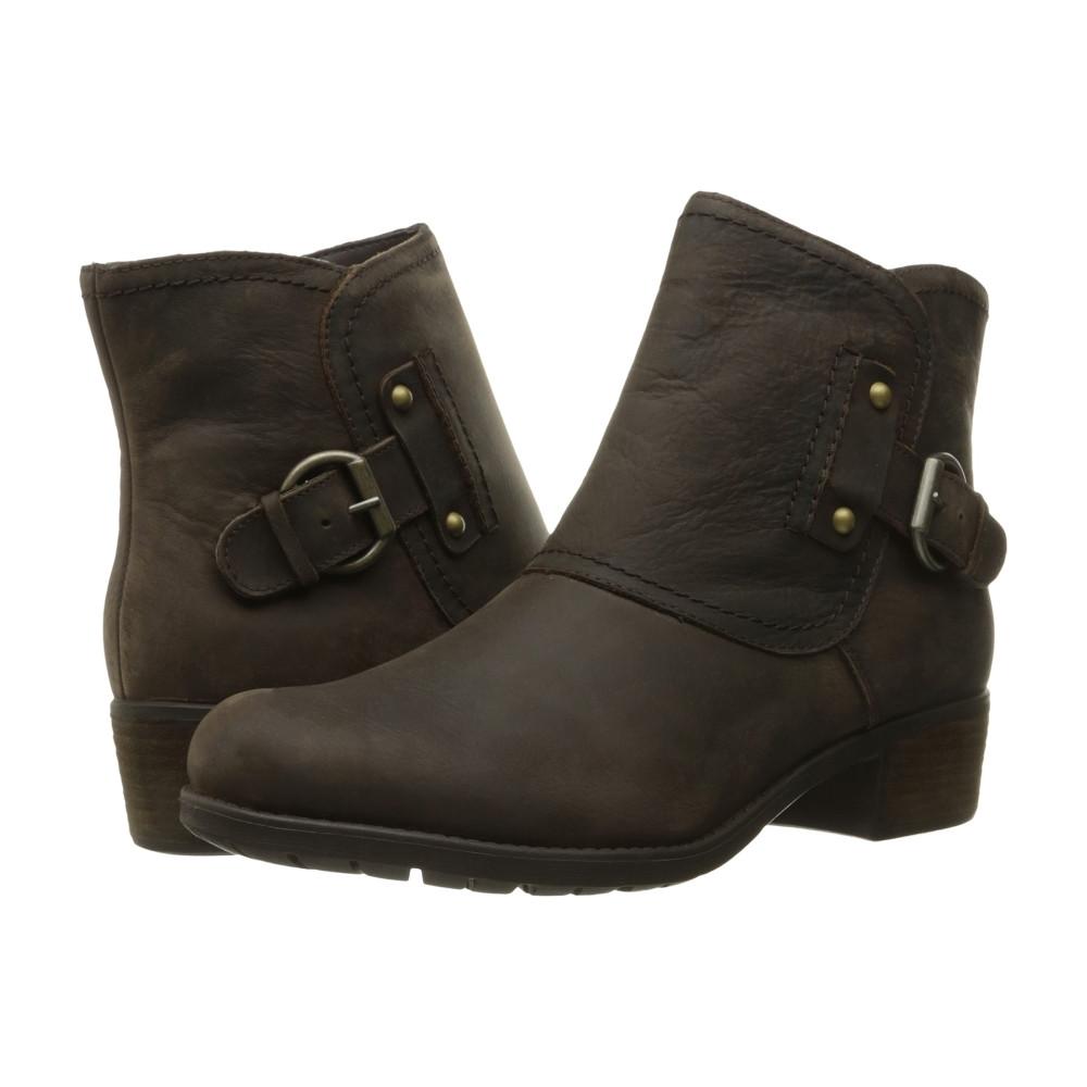 ハッシュパピー レディース シューズ・靴 ブーツ【Proud Overton】Dark Brown WP Leather