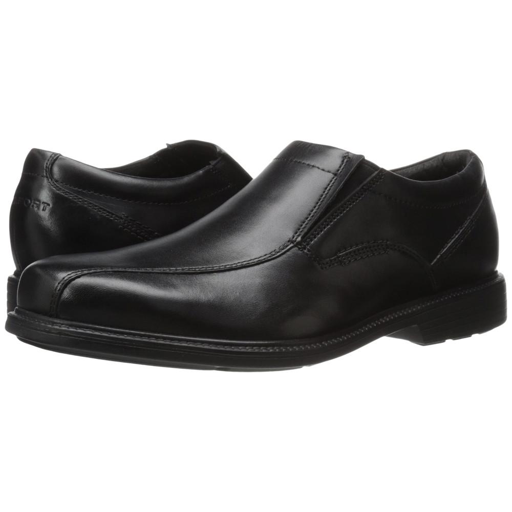 ロックポート メンズ シューズ・靴 スリッポン・フラット【Charles Road Slip-On】Black Leather