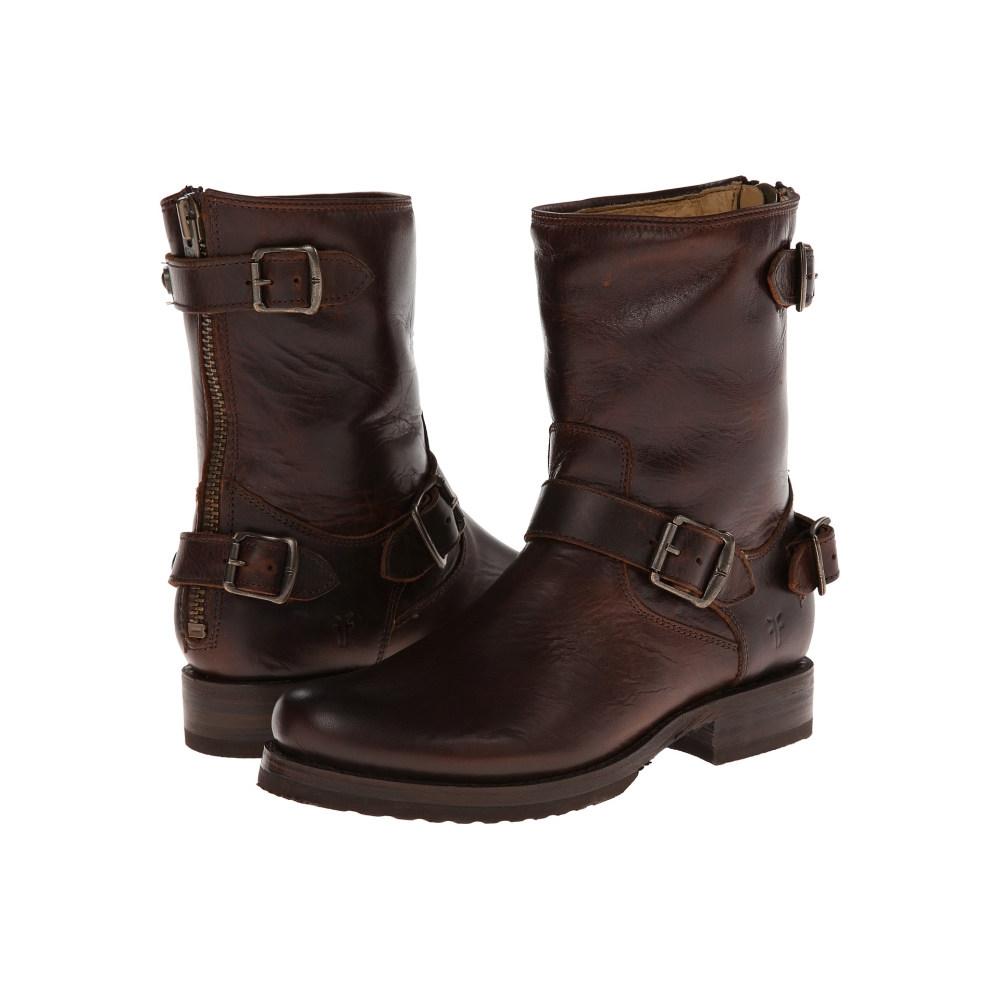 フライ レディース シューズ・靴 ブーツ【Veronica Back Zip Short】Dark Brown Antique Pull Up