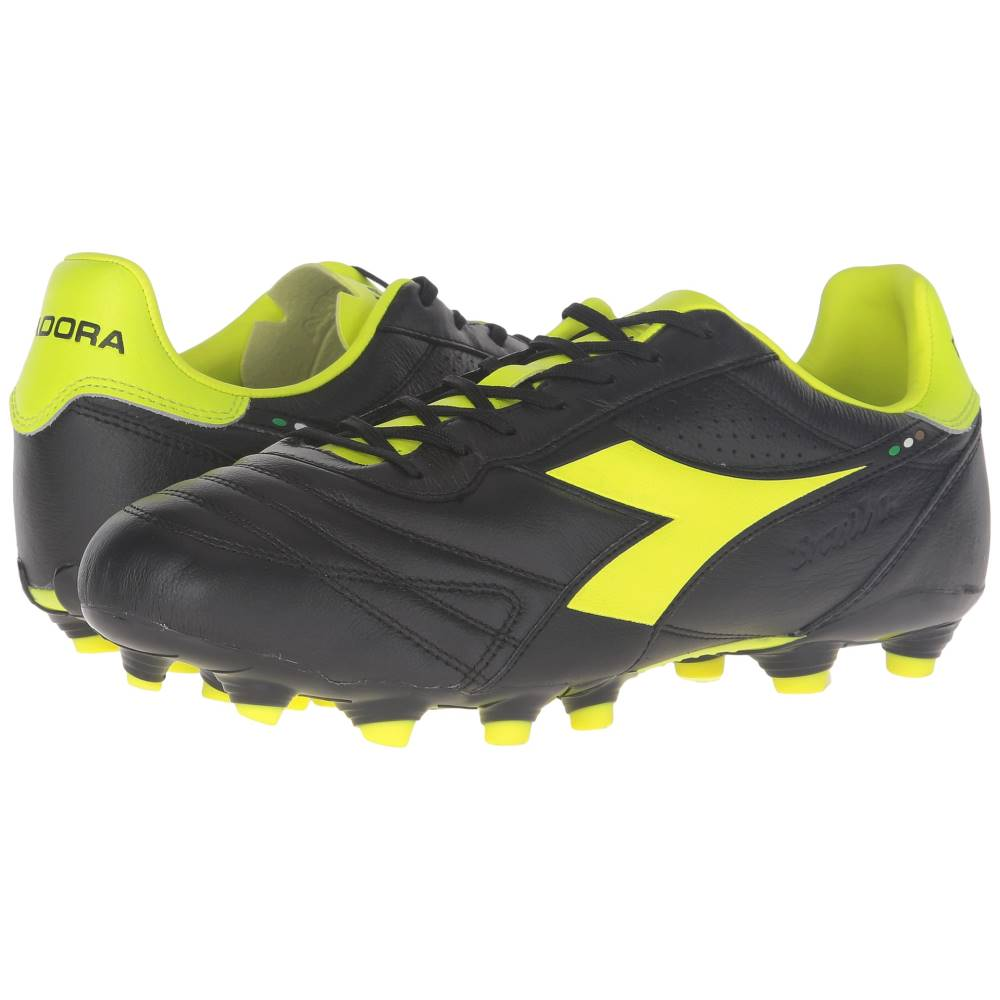 ディアドラ メンズ サッカー シューズ・靴【Brasil K Plus MG 14】Black/Yellow Fluo