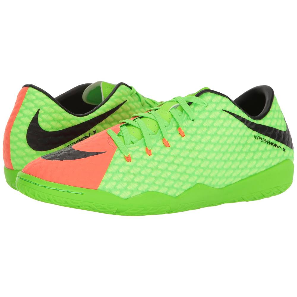 ナイキ メンズ サッカー シューズ・靴【Hypervenom Phelon III IC】Electric Green/Black/Hyper Orange/Volt