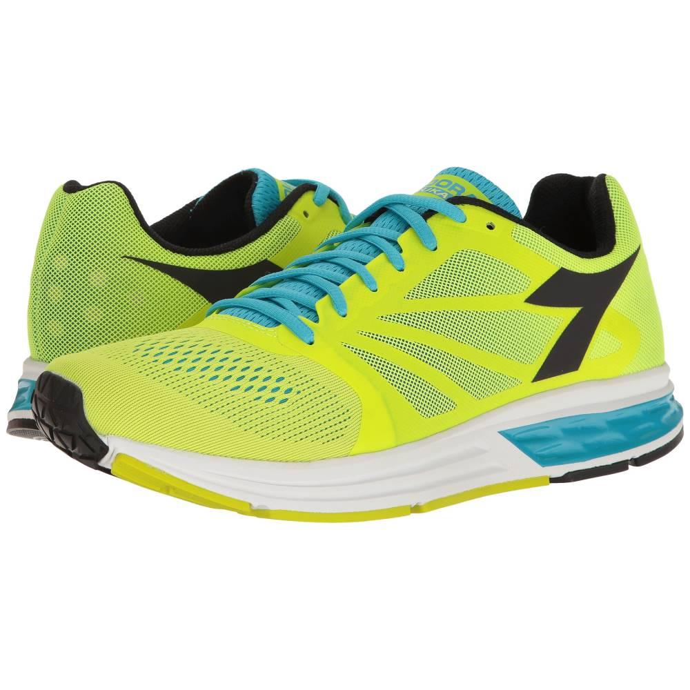 ディアドラ メンズ ランニング・ウォーキング シューズ・靴【Kuruka】Fluo Yellow/Fluo Blue/Black