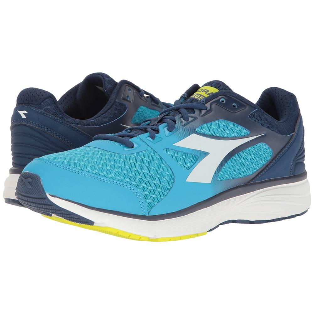 ディアドラ メンズ ランニング・ウォーキング シューズ・靴【Run 505】Blue Fluo/White