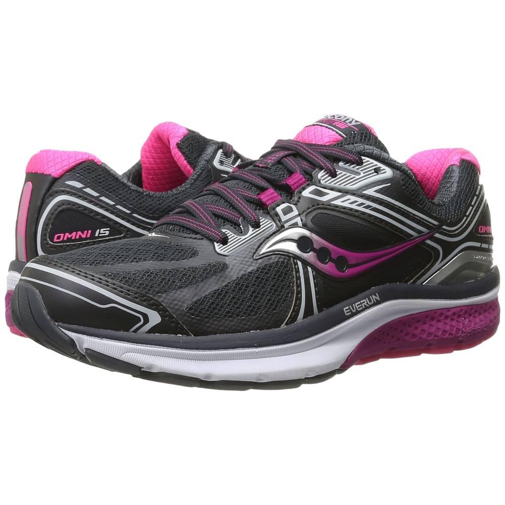 サッカニー レディース ランニング・ウォーキング シューズ・靴【Omni 15】Grey/Purple/Pink