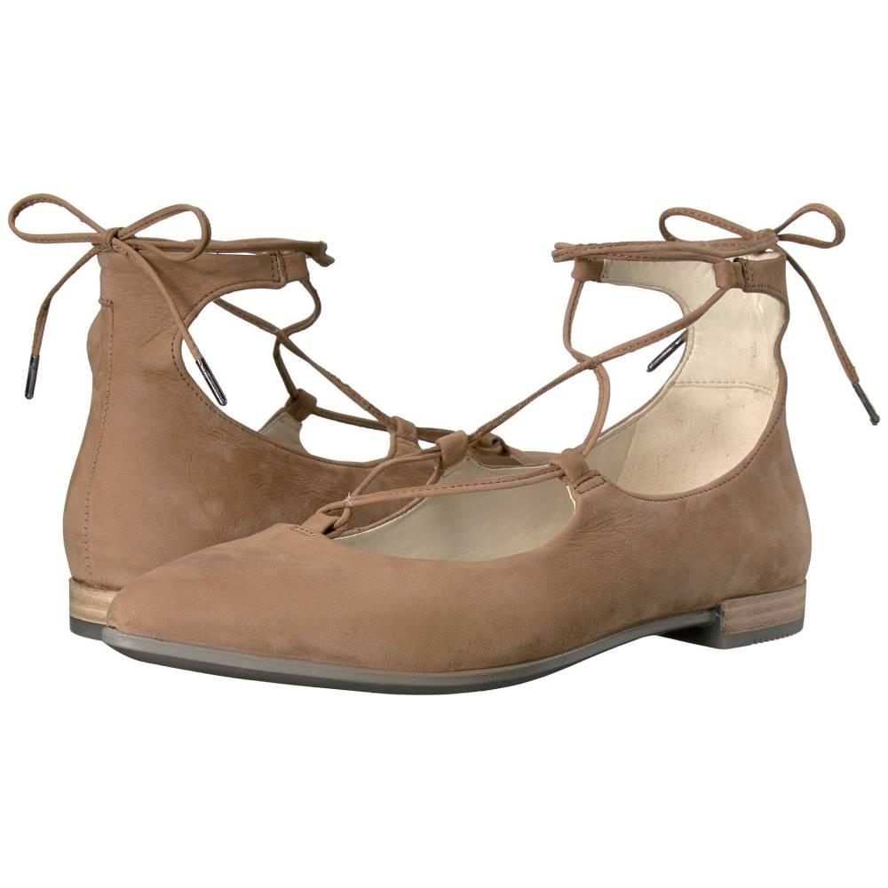 エコー レディース シューズ・靴 スリッポン・フラット【Shape Tie Up Ballerina】Camel Calf Nubuck
