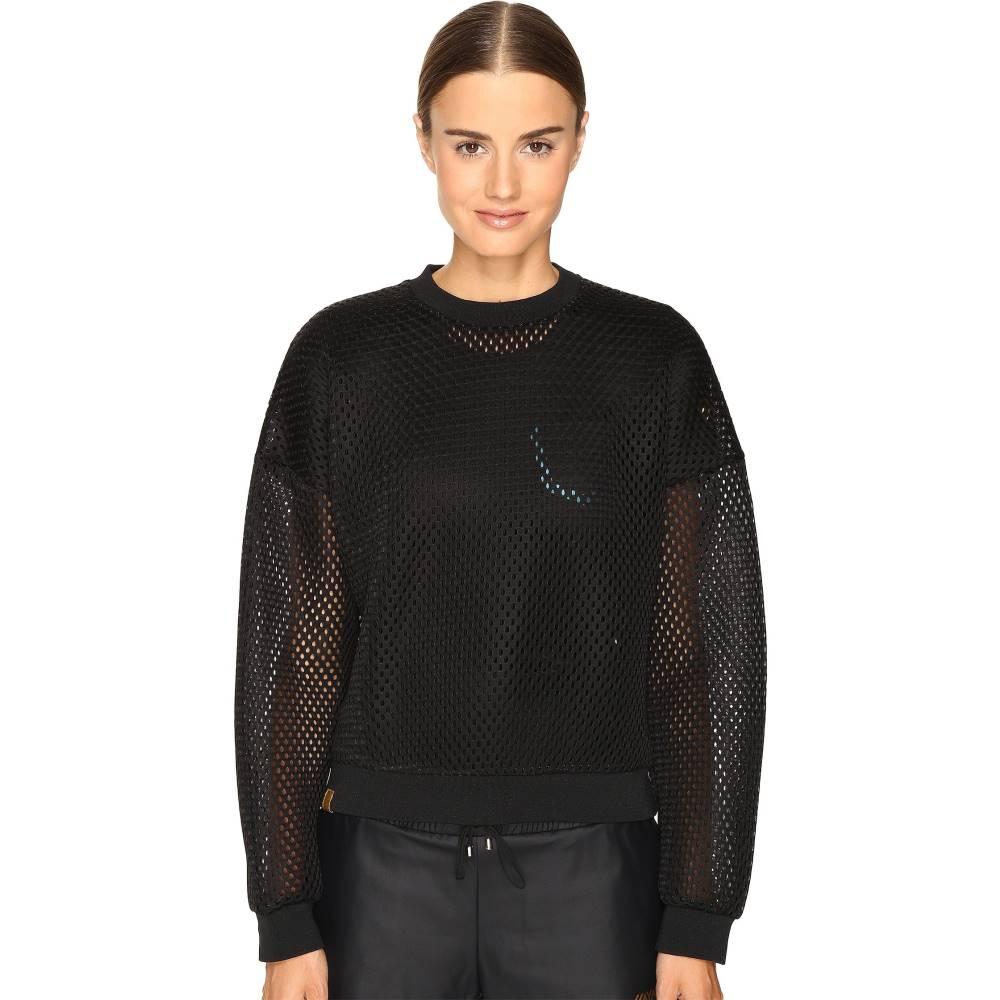 モンレアル ロンドン レディース トップス スウェット・トレーナー【Cropped Sweatshirt】Black/Acid