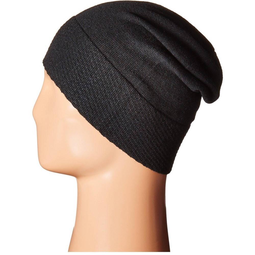 02f04fa5c59 コールハーン レディース 帽子 ニット Tuck Stitch Cuff Slouchy Beanie Black-ニット帽