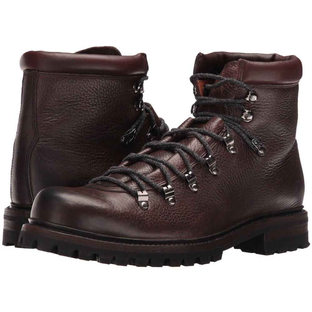 フライ メンズ ハイキング・登山 シューズ・靴【Wyoming Hiker】Dark Brown WP Waxed Pebbled Leather/Soft Vintage Leather