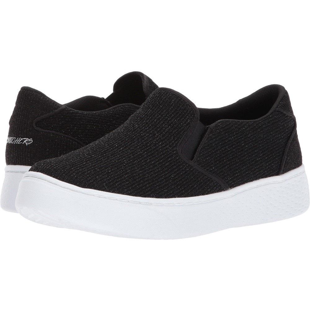 スケッチャーズ レディース シューズ・靴 スニーカー【Sparkle Knit Twin Gore Slip】Black/White