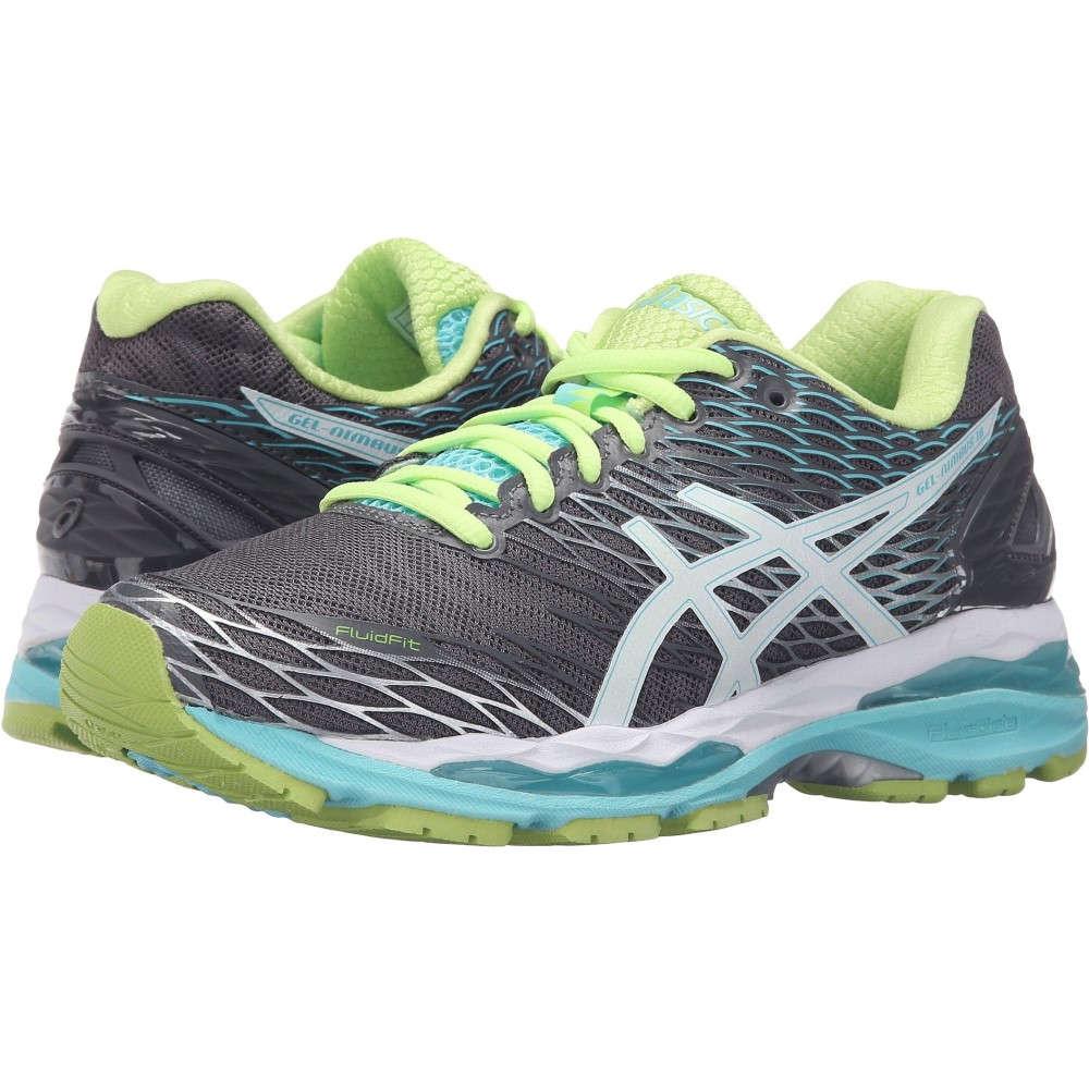 アシックス レディース ランニング・ウォーキング シューズ・靴【Gel-Nimbus 18】Titanium/White/Turquoise