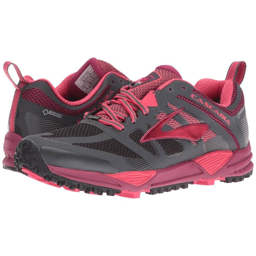 ブルックス レディース ランニング・ウォーキング シューズ・靴【Cascadia 11 GTX】Anthracite/Teaberry/Raspberry Radiance