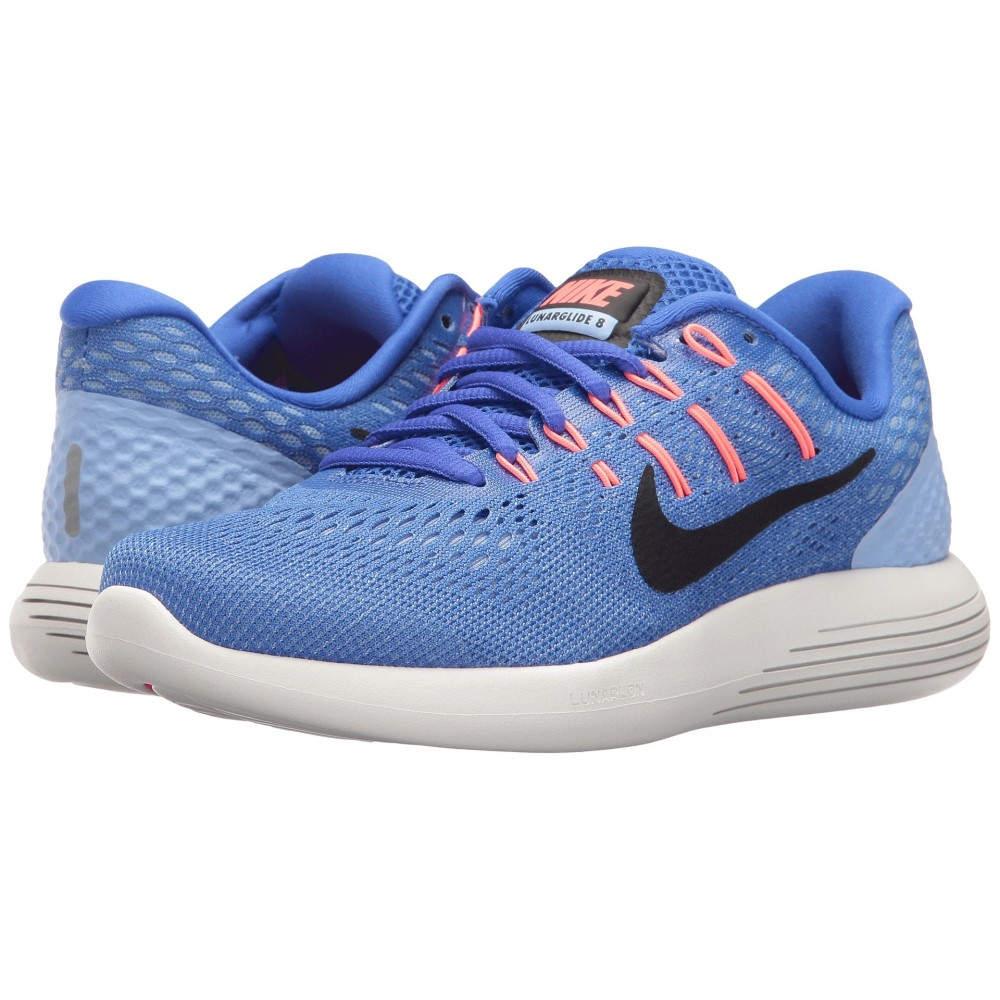 ナイキ レディース ランニング・ウォーキング シューズ・靴【Lunarglide 8】Medium Blue/Black/Aluminum/Hot Punch