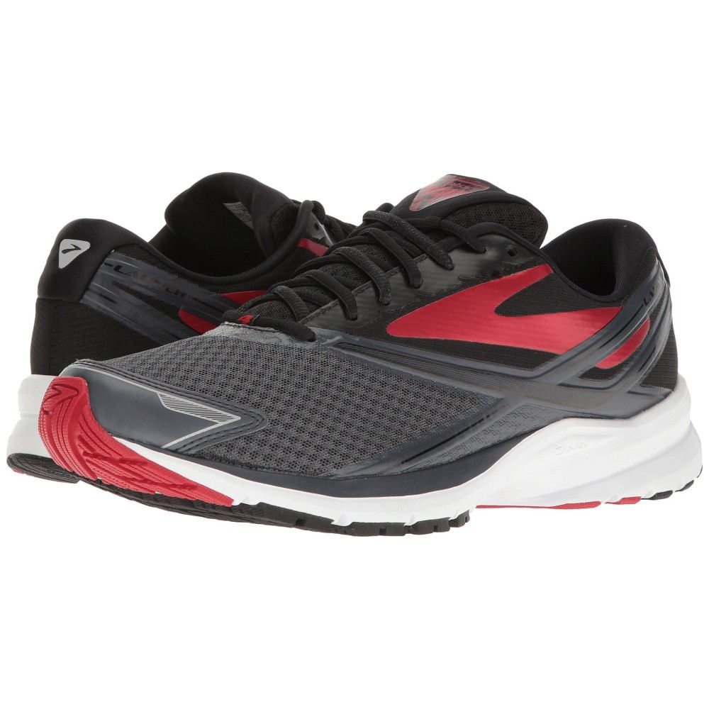 ブルックス メンズ ランニング・ウォーキング シューズ・靴【Launch 4】Anthracite/Black/High Risk Red