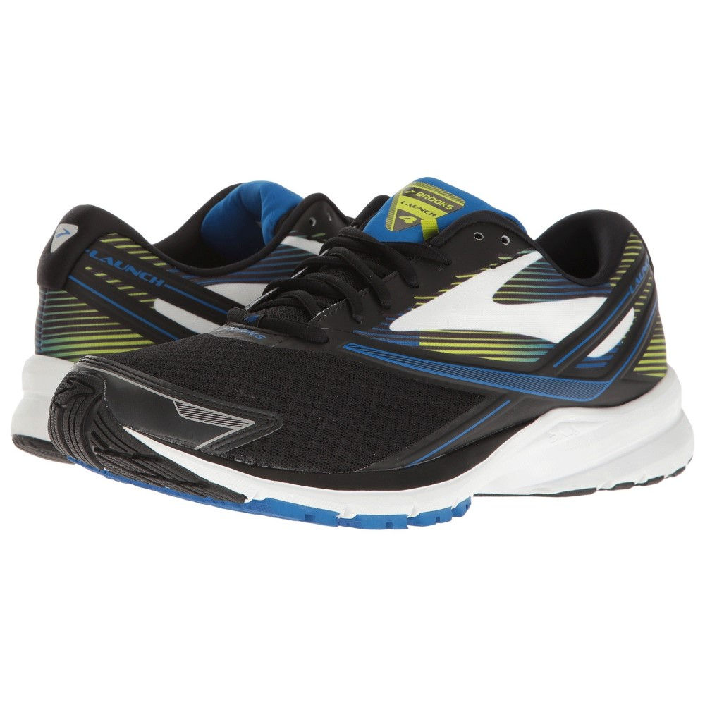 ブルックス メンズ ランニング・ウォーキング シューズ・靴【Launch 4】Black/Lapis Blue/Lime Popsicle