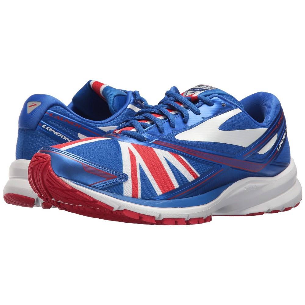 ブルックス メンズ ランニング・ウォーキング シューズ・靴【Launch 4】Electric Brooks Blue/Toreador/White 1