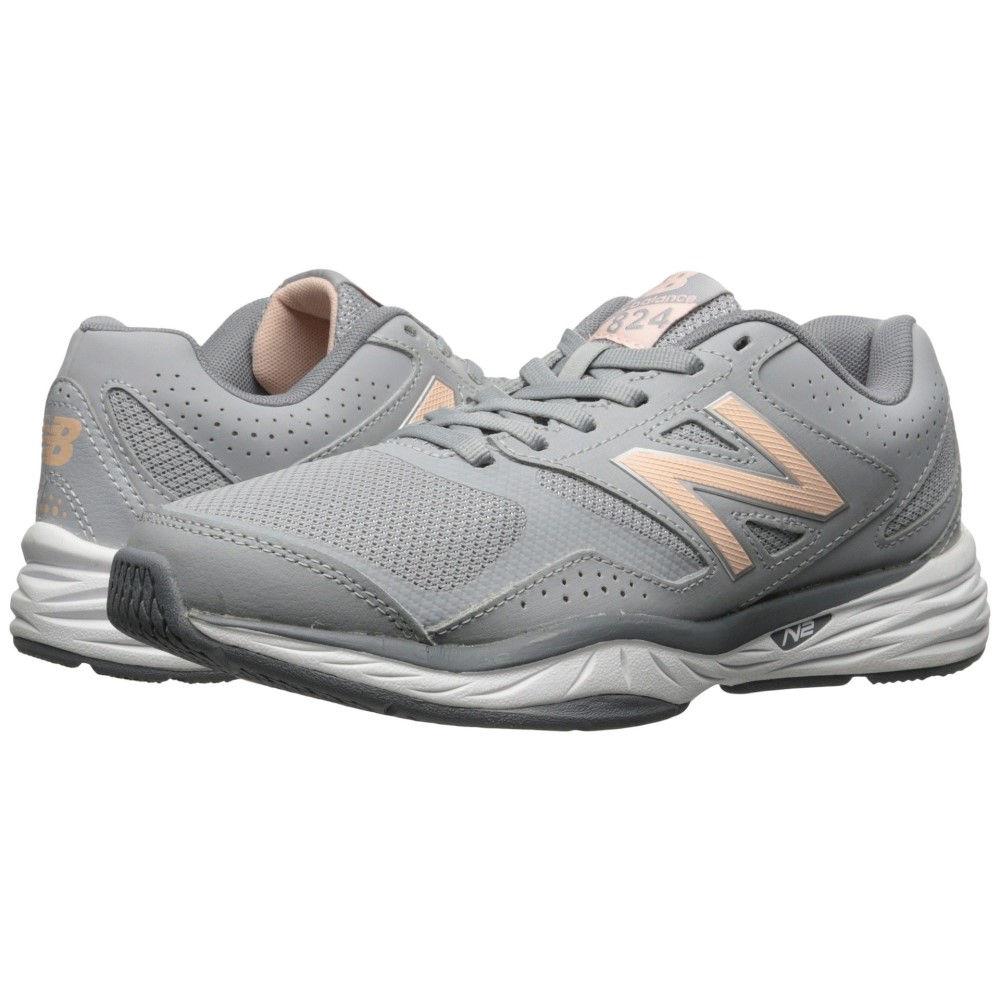 ニューバランス レディース フィットネス・トレーニング シューズ・靴【WX824v1】Gray/Guava