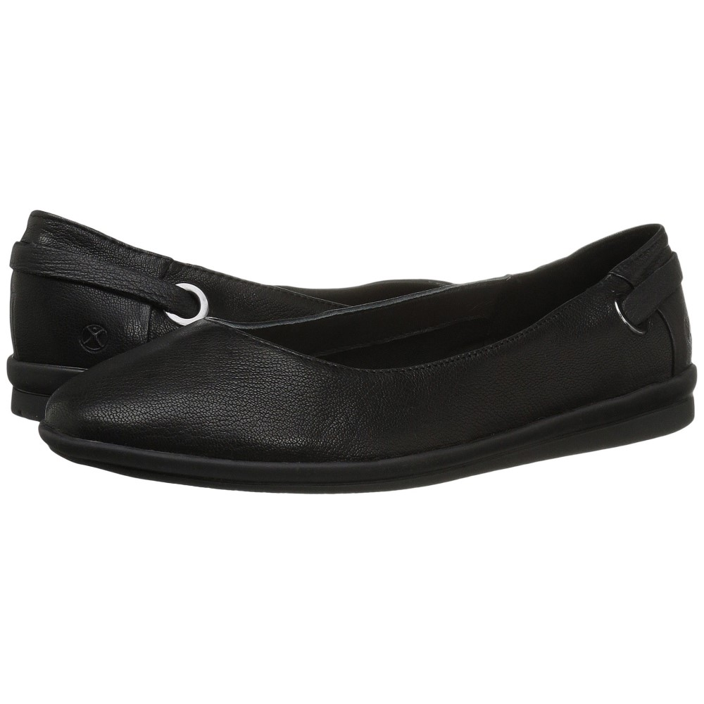 ハッシュパピー レディース シューズ・靴 スリッポン・フラット【Michele Madrine】Black Leather