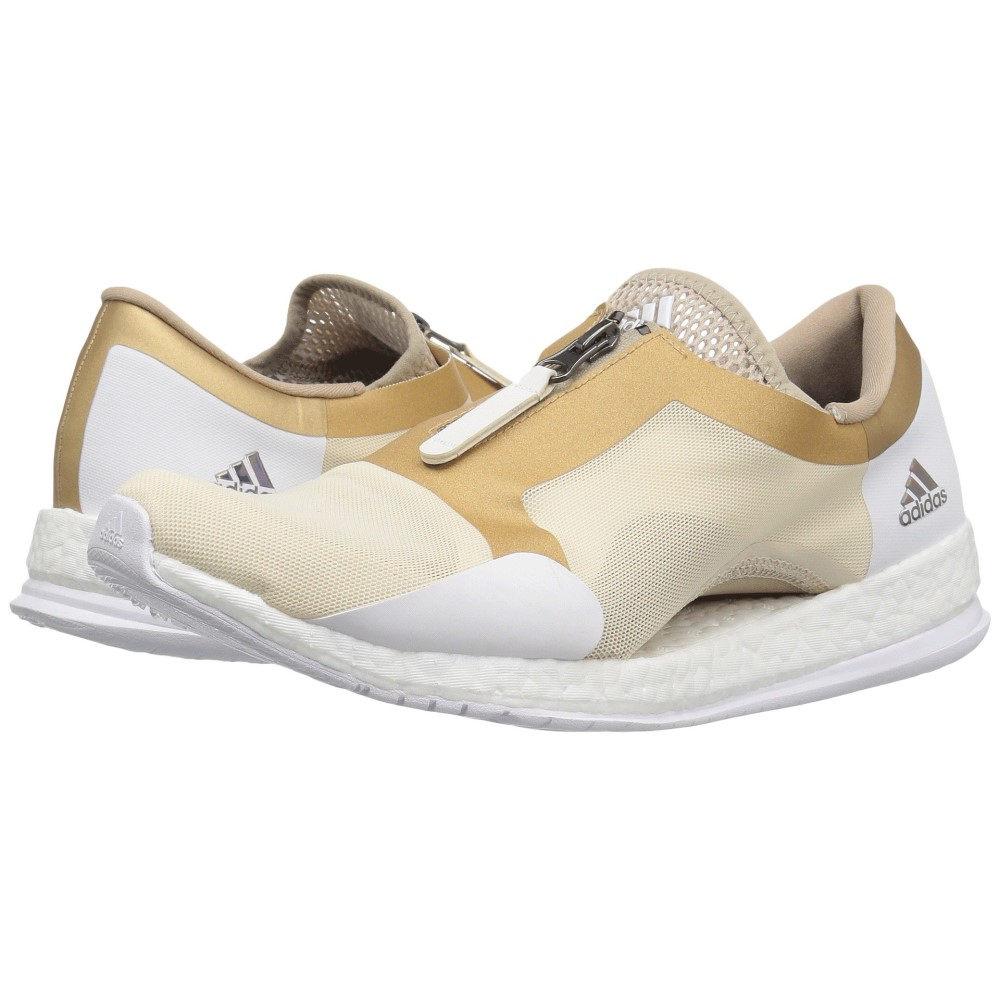 アディダス レディース ランニング・ウォーキング シューズ・靴【Pureboost X TR Zip】Linen/Trace Khaki