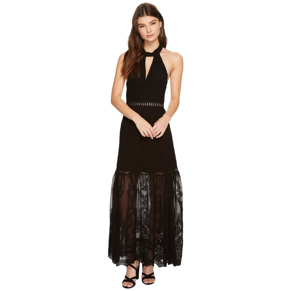 ジェンズパイレーツブーティ レディース ワンピース・ドレス ワンピース【Eyelet Queensland Choker Maxi Dress】Black Eyelet