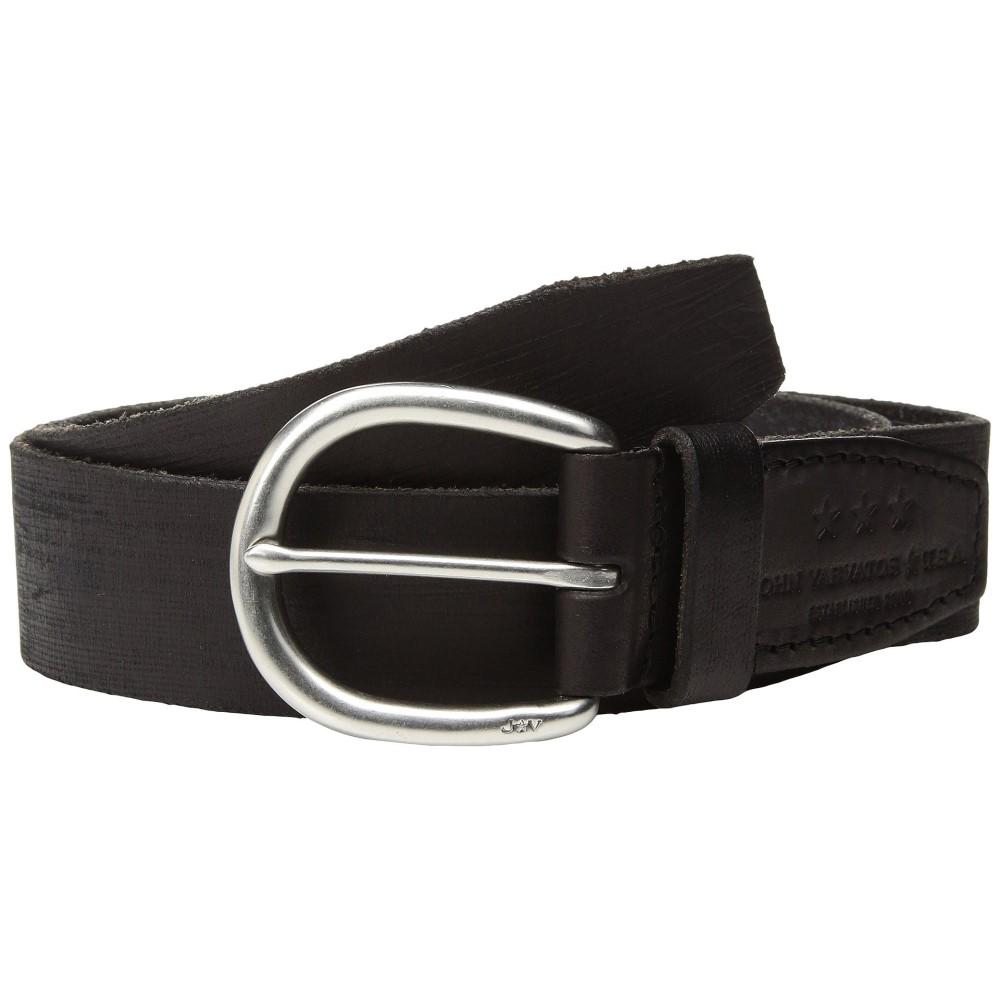 ジョン バルベイトス メンズ ベルト【Hand Burnished Belt】Black