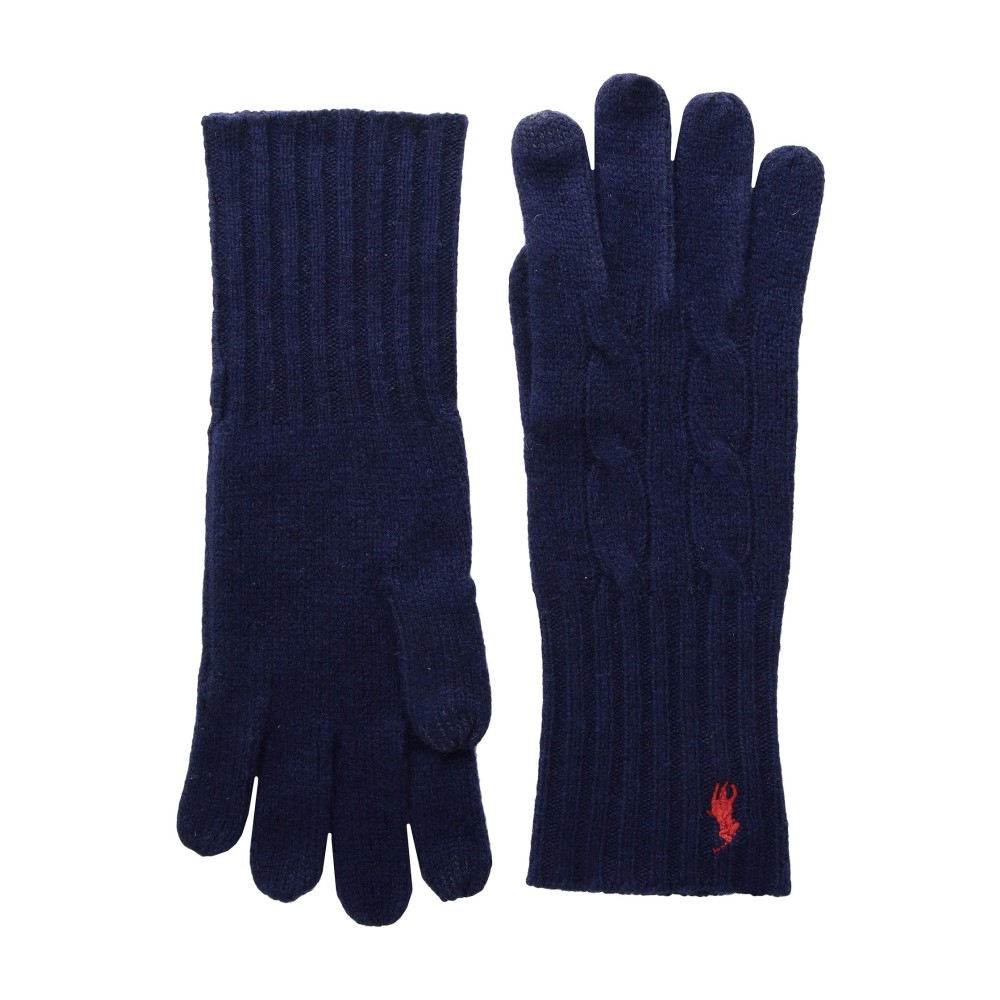 ラルフ ローレン レディース 手袋・グローブ【Cashmere Blend Classic Cable Knit Gloves】Bright Navy