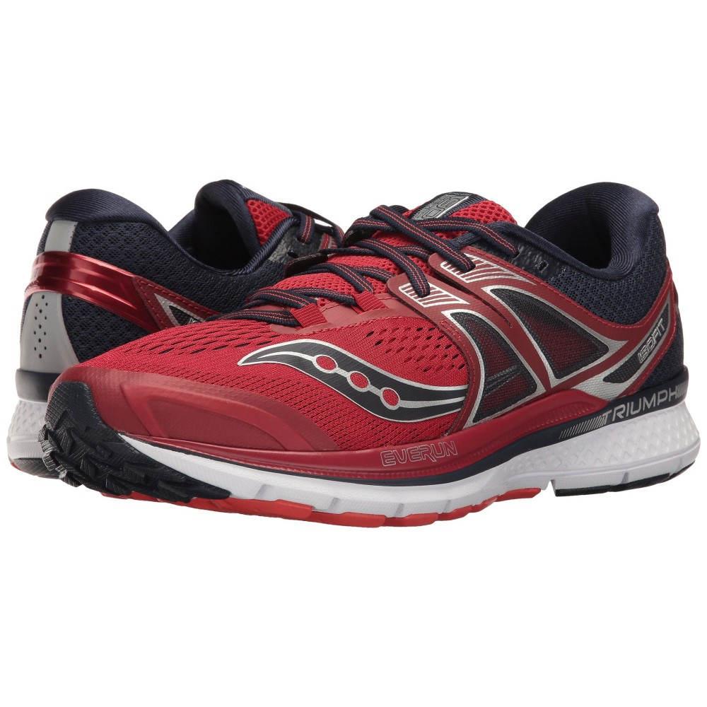 サッカニー メンズ ランニング・ウォーキング シューズ・靴【Triumph ISO 3】Red/Navy